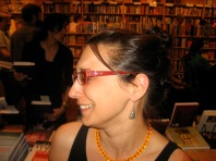 My friend Sharad took this after a reading for Opa Nobody at Bluestockings Books.